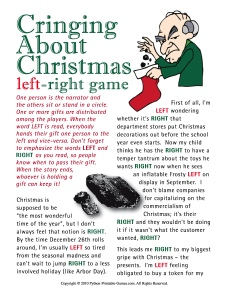 Christmas Left-Right game