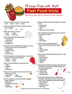 BBQ Trivia: Multiple Choice Fast Food Trivia Game