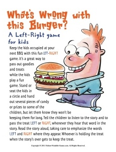 BBQ Ideas For Kids: What's Wrong With This Burger? Left-Right