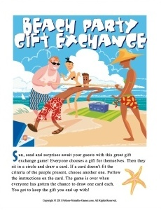 Beach Party Gift Exchange Game