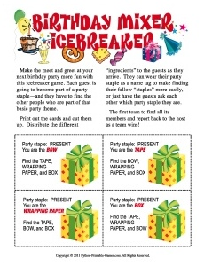 Birthday Mixer Icebreaker Game