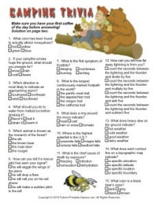 photo regarding Camping Mad Libs Printable identify Printable Tenting Game titles for Children and Loved ones Printable