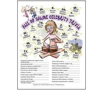Hall of Shame Celebrity Trivia