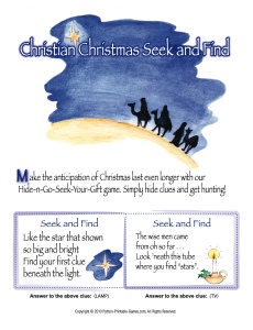 Christian Christmas Scavenger Hunt For Kids