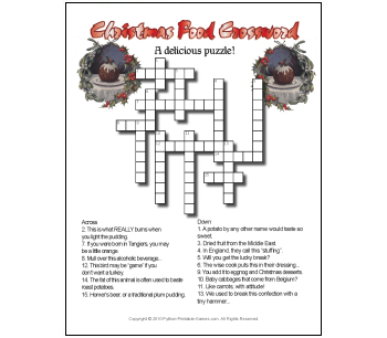 Crossword Puzzles on Crossword Puzzles In This Fun Printable Christmas Puzzles Pack