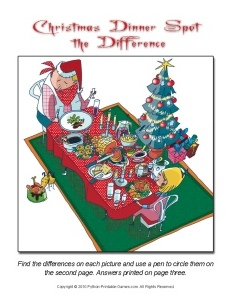 Christmas Dinner Spot The Difference Game - 230 x 300