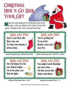 Christmas Scavenger Hunt Hide and Go Seek Your Gift