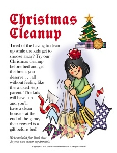 Cleanup Christmas Scavenger Hunt For Kids