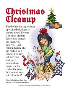 Cleanup Christmas Scavenger Hunt For Kids
