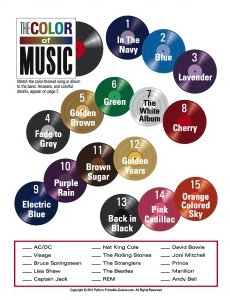 Color of Music Trivia