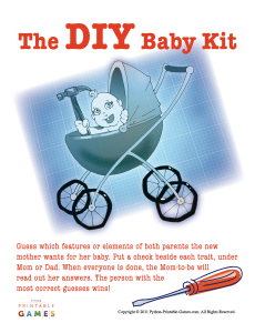 DIY Baby Kit Baby Shower Game