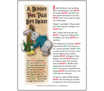 Easter party games white elephant gift adaptable albinophant a bunny tail tale easter left right game negle Images