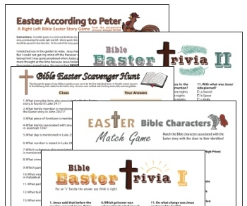 Christian party games for Easter bargain pack!