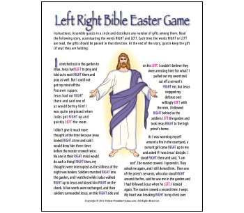 Easter According to Peter Right-Left Easter game
