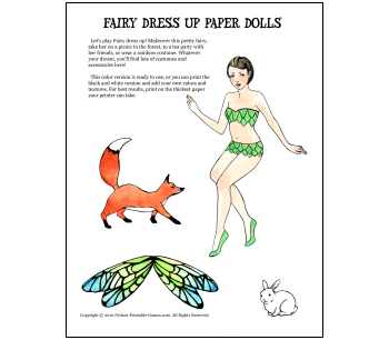 Picnic Games: Fairy Dress-Up Paper Dolls