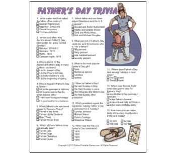 Father's Day Trivia