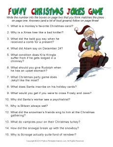 Funny Christmas Jokes Game