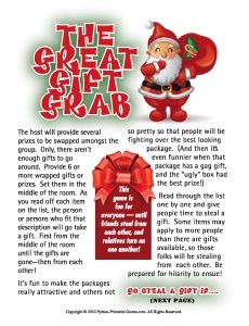 Great Gift Grab Christmas party gift exchange game