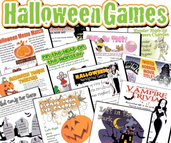 Halloween Party Games Pack: over 40 printables for all the family!