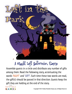 Left In The Dark Halloween Left-Right Game For Adults