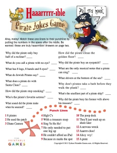 H-ARRR-ible Pirate Jokes Game