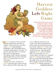Harvest Goddess Left-Right game