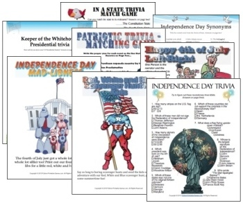 Independence Day 4th of July Games Pack