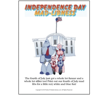 Independence Day Mad Libs game