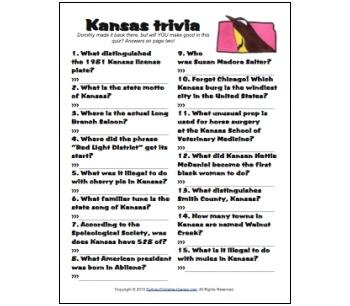 Kansas Trivia game