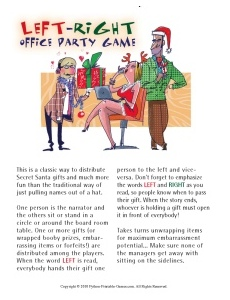 Left-Right Office Christmas Party Game