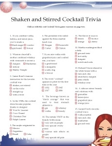 Luau games: Cocktail Trivia