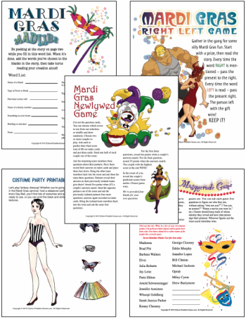 picture about Mardi Gras Trivia Quiz Printable named Mardi Gras Bash - Catch the Spirit of Contemporary Orleans