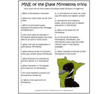 Minnesota Trivia game