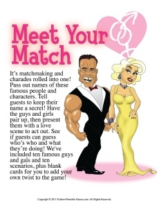 Printable 30th Birthday Game: Meet Your Match