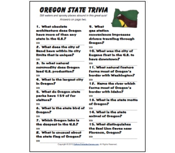 Oregon Trivia game