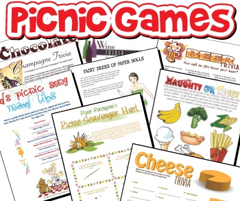 Printable Picnic Games for Adults Pack