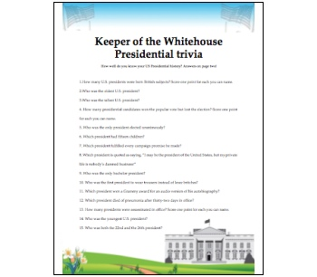 Independence Day Presidential Trivia game