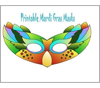 Printable Mardi Gras Masks