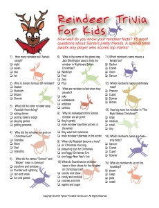 Reindeer Trivia For Kids