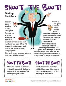 Shoot the Boot Drinking Game