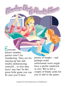Slumber Party Pranks: Off Your Rocker Card Game