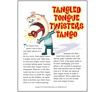 Picnic Games: Tongue Twisters