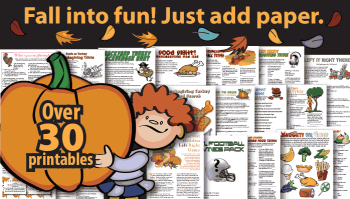 Thanksgiving Party Games for Fall HarvestParties