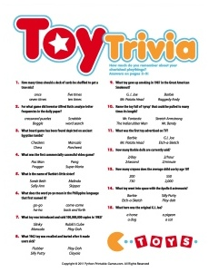 50th Birthday Game: Toy Trivia