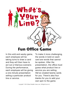 christmas office games whats your line