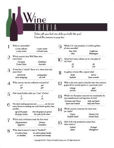BBQ Ideas: Wine Trivia Game