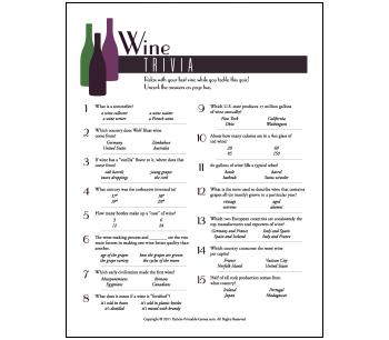 Picnic Games: Wine Trivia