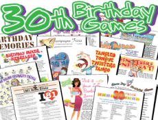 30th Birthday Party Games Pack