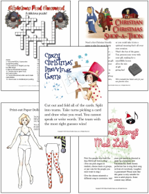Printable Christmas Games MEGA-Pack