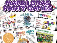 Printable Mardi Gras Games Pack